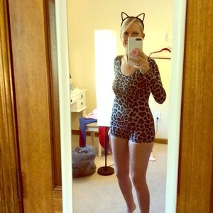 Size XS catsuit with ears.